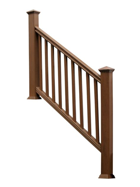 eon 36 ins x 6 chestnut traditional stair rail kit
