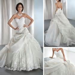 Discount Wedding Dresses Uk New Fashion Appliqued Ivory Lace Organza Sweetheart Ball Gown Cinderella Wedding Dresses Wd089 Jpg