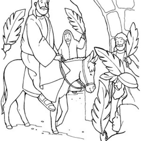 jesus rode into jerussalem on a donkey in palm sunday