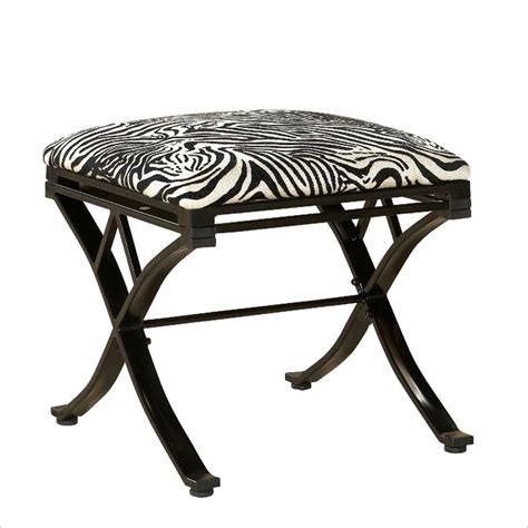 linon zebra vanity stool black kids chair ebay