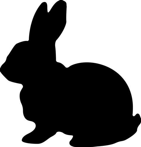 Bunny Ibon Black rabbit svg png icon free 271029
