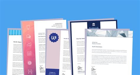 15 Professional Business Letterhead Templates And Design Ideas Venngage Professional Stationery Templates