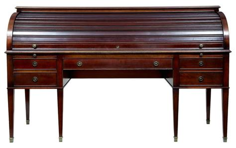 large 1920s mahogany roll top desk writing table at 1stdibs