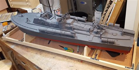pt boat model pt boat large scale r c and loaded with 3d prints