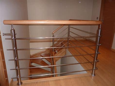 barandilla escalera madera escaleras madera acero inox barandillas ballarin sl