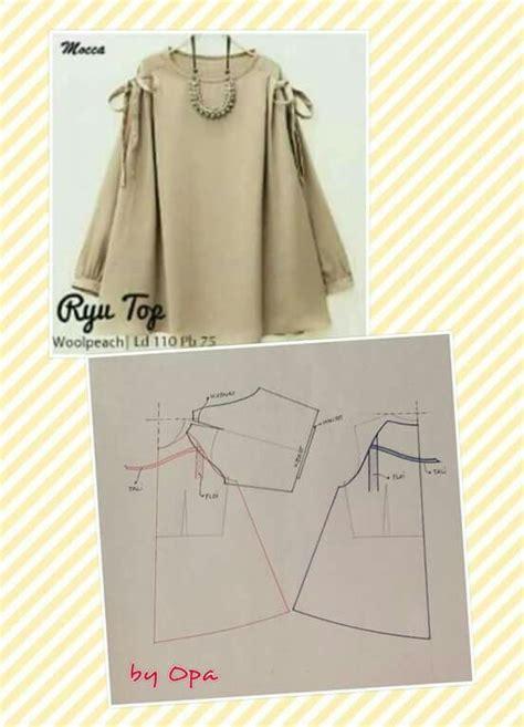 Vintage Blouse Tunik Atasan Baju Wanita Tunic Bluss Blus Putih Polos 126 best images about pola on sewing patterns