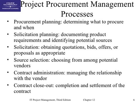 procurement management template chap12 project procurement management