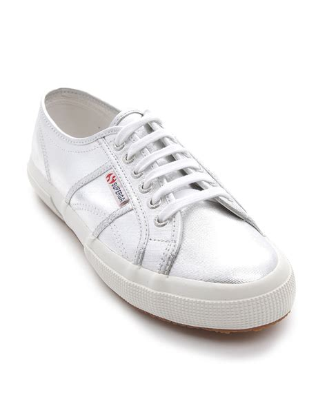 superga sneakers silver superga silver sneakers in silver for lyst