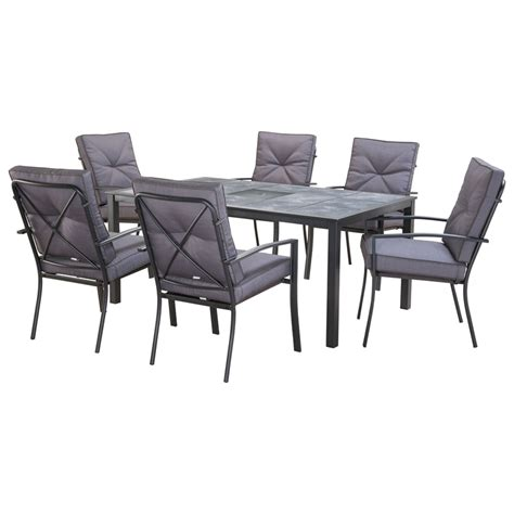 marquee 7 piece florida dining setting bunnings warehouse