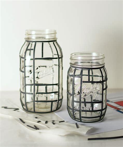 glass jar crafts mondrian jars jar crafts