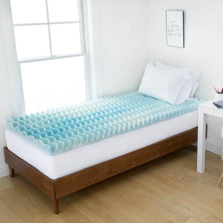 authentic comfort 3 memory foam mattress topper authentic comfort 3 inch bluewave memory foam