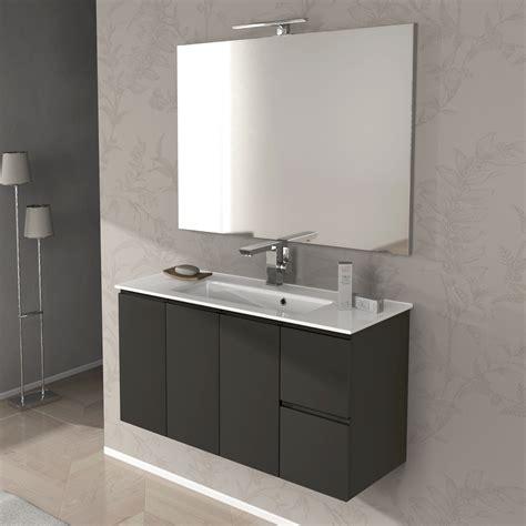 mobile bagno 100 mobile bagno giulia cm 100 bianco lucido e grigio talpa
