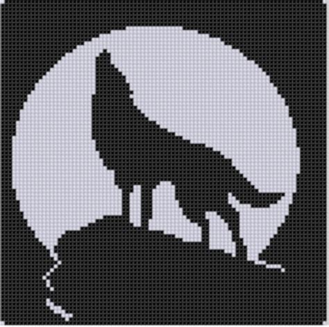 free black and white crafts patterns on craftsy howling wolf cross stitch pattern by motherbeedesigns