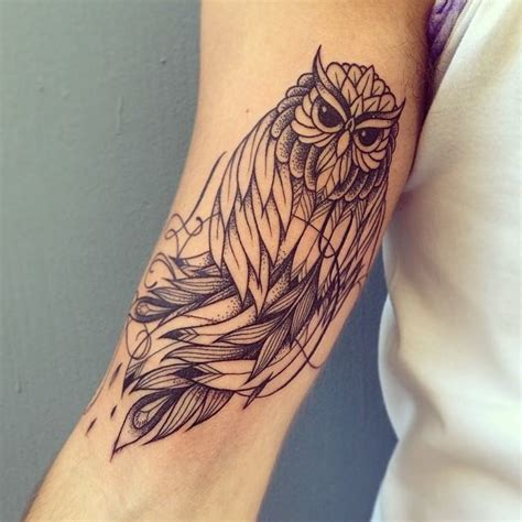 this owl tattoo by supakitch shows off the artist s