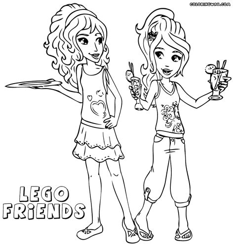 coloring pages lego friends printable coloring pages lego friends coloring home