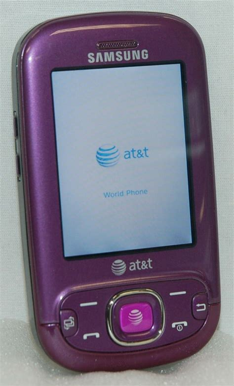 samsung strive purple sgh a687 mobile cell phone at t slider qwerty keyboard 3g 635753482379 ebay