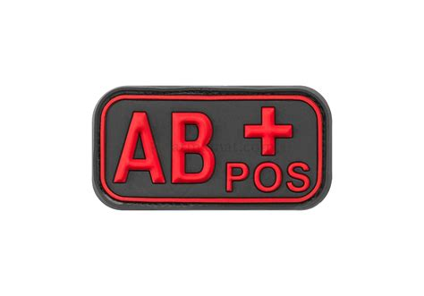 Rubber Pvc Patch Blood Type Ab Pos 1 bloodtype rubber patch ab pos blackmedic jtg rubber patches patches equipment armamat