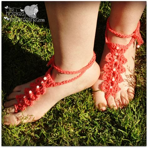 free crochet barefoot sandals barefoot sandals and foot adornments to crochet free