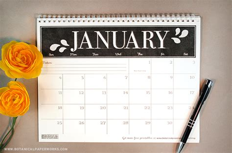 printable calendar 2015 blog free printable 2015 monthly calendar blog botanical