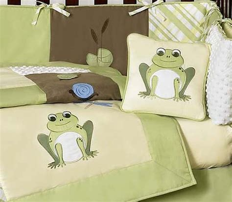 Frog Crib Bedding Discount Cheap Unisex Yellow Green Frog Froggy 9p Baby Boy Crib Bedding Set