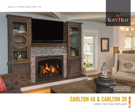kozy heat fireplaces direct vent g b energy