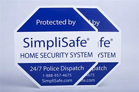 2x yard sign for simplisafe home security system panic