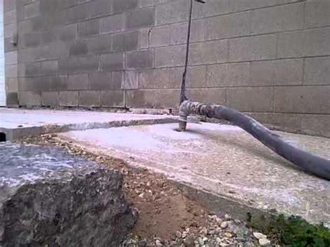 concrete raising sunken sidewalk repair demonstration