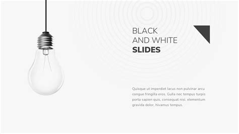 black and white powerpoint template by twilight