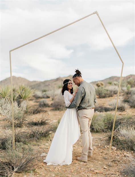 Wedding Ceremony Joshua Tree by Bohemian Elopement Inspiration In Joshua Tree Green