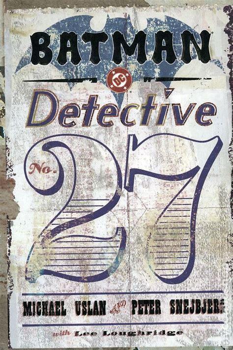 batman detective comics hc 1401263550 batman detective number 27 hc 2003 dc comic books