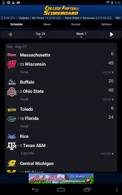 section v football live scores fox ncaa football scores ncaaf acores