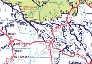 dawson county map georgiainfo