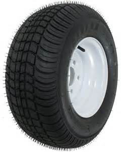 Trail America Trailer Tires Reviews Kenda 205 65 10 Bias Trailer Tire With 10 Quot White Wheel 5