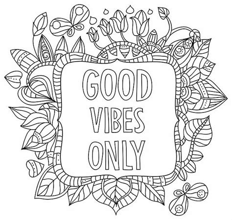 word coloring pages vibes only coloring page words words colouring