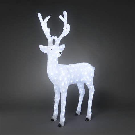 konstsmide decorative outdoor 130cm acrylic reindeer with