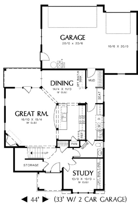 rear garage house plans rear entry garage and two exterior choices 69204am