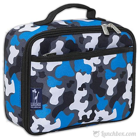 Lunch Box Blue blue camo insulated lunchbox lunchbox