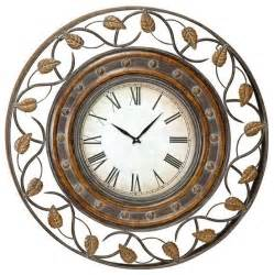 Decorative Wall Clocks by 36 Quot Quarter Metal Decor Wall Clock