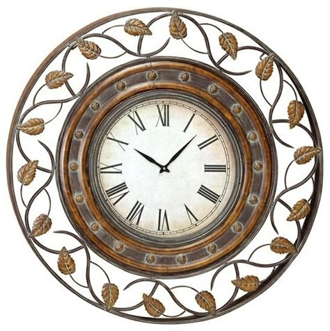 art wall clock 36 quot french quarter metal art decor wall clock