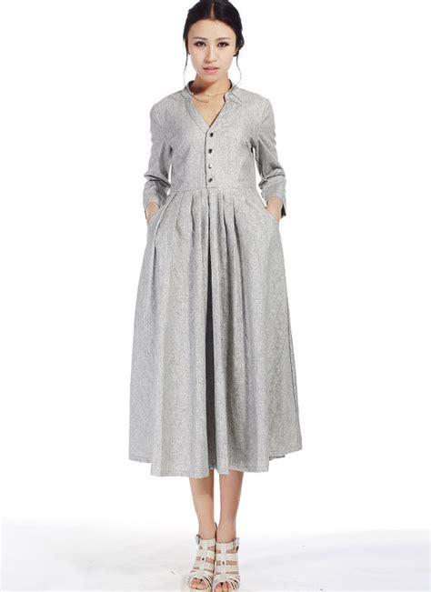 Handmade Womens Dresses - linen dresses for dress with pockets shirt dress