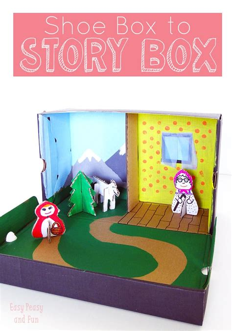 shoe box crafts for story box shoe box craft easy peasy and