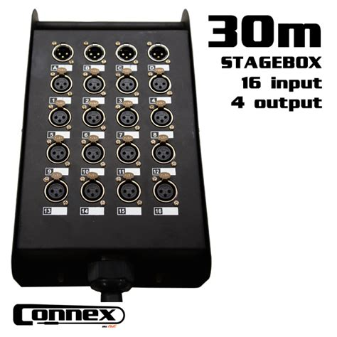 Snake Cable 16 4 Chanel 30 Mtr connex multicore 2030 with stagebox 16in 4out 30m dj city