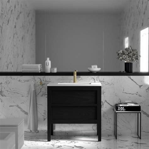 lusso claridge black bathroom freestanding vanity unit
