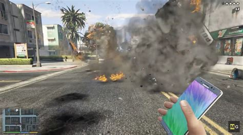 game mod samsung y samsung s galaxy note 7 is a literal bomb in this gta 5