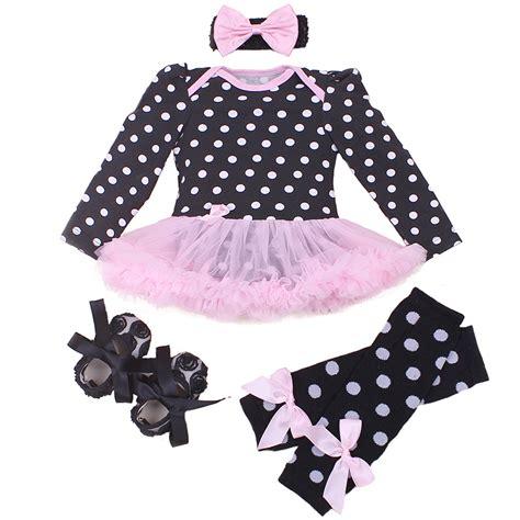 Romper Tutu Pink infant clothing sets for newborn baby pink polka dot