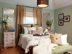 Bedroom with mint green walls hgtv