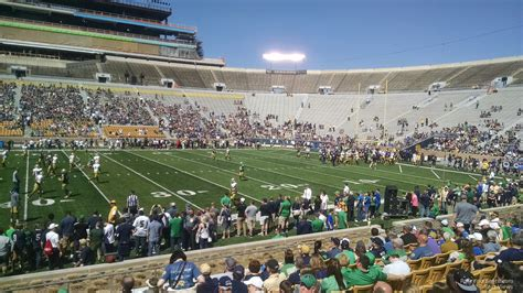 notre dame section notre dame stadium section 9 rateyourseats com