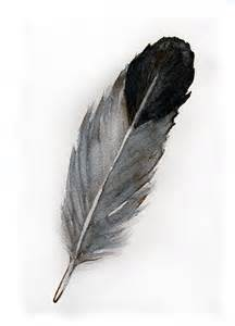 water color feather watercolored feather original watercolor painting of
