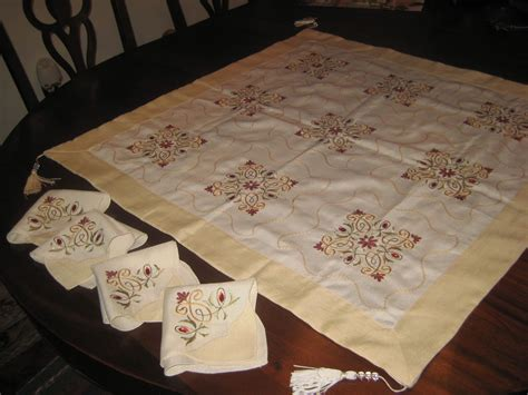what size is a card table embroidered tablecloth card table size tassels 4 matching