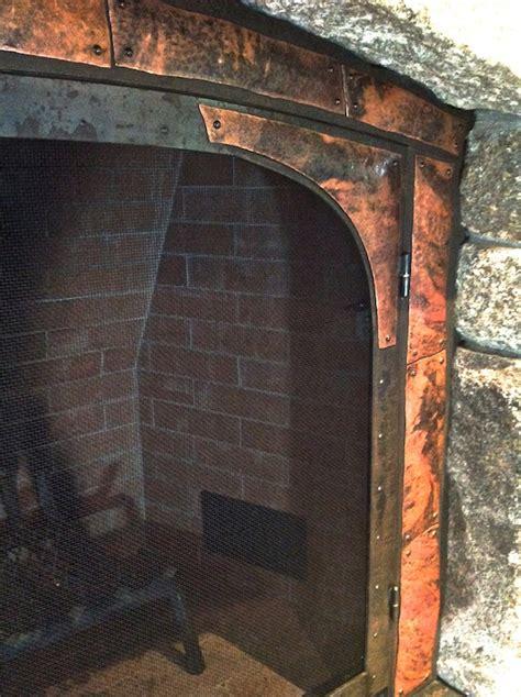 Rustic Fireplace Screen by Artisan Iron 187 Rustic Fireplace Screen